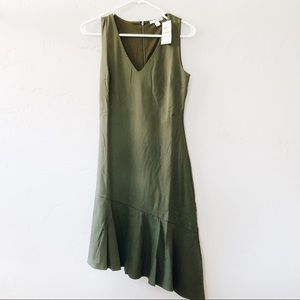 NWT bar III Native Green Midi Dress Size Small